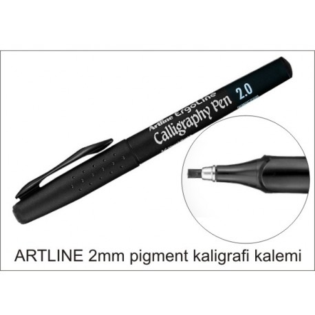 Artline 2mm kaligrafi kalemi