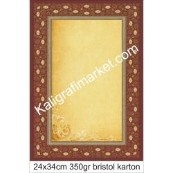 4 nolu kaligrafi kartonu