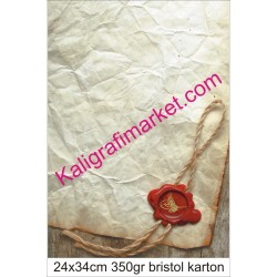 8 nolu kaligrafi kartonu
