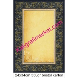 9 nolu kaligrafi kartonu