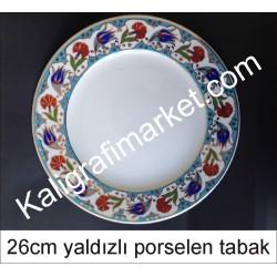 5 no yaldızlı porselen tabak