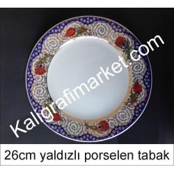 7 no yaldızlı porselen tabak