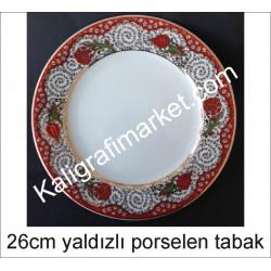 8 no yaldızlı porselen tabak
