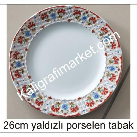 9 no yaldızlı porselen tabak