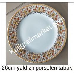 10 no yaldızlı porselen tabak