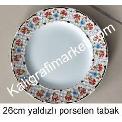 6 no yaldızlı porselen tabak