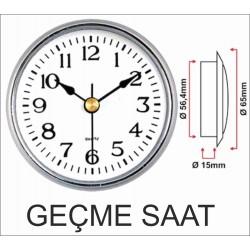 6,5cm gümüş geçme saat